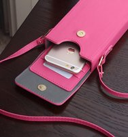 Wholesale Hot sale Iphone s plus mini lady bag PU leather wallet phone bag fashion rainbow color with high quality