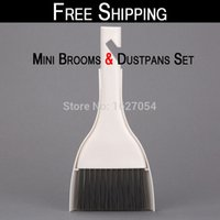 Wholesale Set In Mini Broom amp Dustpan set Office Home Car Cleaning Tool Dashboard Outlet Vent Computer Keyboard Set