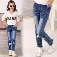 Wholesale and retail Hot sale New style Children s girls jeans Children pants kids girl s design jeans