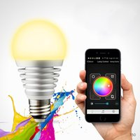 Wholesale LIXADA Bluetooth LED RGB Smart Light E27 Bulb Controlled Dimmable Color Changing Lamp for iPhone iPad Android W Equivalent L0573