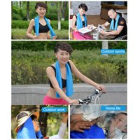 Wholesale Newest Creative Cold Towel Exercise Sweat Summer Ice Towel cm Ice Cool Towel PVA Hypothermia Cooling Towel for Children Adult