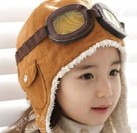 air force beanies - High quality Fashion StyleNew Cute Baby Toddler Boy Girl Kids Pilot Aviator Cap Warm Hats Earflap Beanie Ear muff cap air force cap Warm