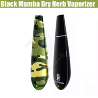Cheap Original Black mamba Dry herb vaporizer vape pen Herbal wax vaporizers Kingtons Widow Ceramic Heating System vopor mods e cigarette cigs DHL