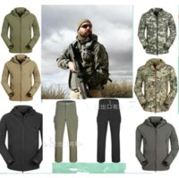 Wholesale High quality Lurker Shark skin Soft Shell TAD V Outdoor Tactical Jacket Waterproof Windproof Sports Army Clothing Set