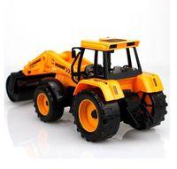 plastic model kits - 1 Gift Boxed large plastic truck model kits roller toys for boys kids Road roller friction scale truck model