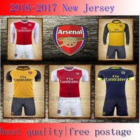 Wholesale Thai Quality Arsenal Soccer Jerseys OZIL WILSHERE RAMSEY ALEXIS rugby jerseys football shirt