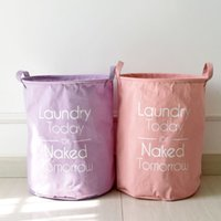 Wholesale Cotton Linen Zakka Vintage Storage Laundry Basket Large Capacity Dirty Clothes Arrow With Handle Crown Linen Fold Bin