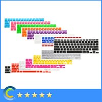 Wholesale US EU Layout Rubber Silicone Keyboard Case Protective skin Cover for Apple Macbook Air Pro Retina Color