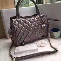 Wholesale Genuine Leather Handbag Lady Business Shoulder Bag Quilted Linning Colors Women Fashion Bag High Quality Hardware