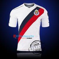 Precio de Camisetas de fútbol de color rosa-NEW Chivas 110 aniversario Guadalajara Soccer Jersey 16 17 Cougars 2016 2017 Inicio A.PULIDO lejos ROSA Soccer Jersey Fútbol Camiseta