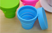 Wholesale Travel folding cup telescopic cup silicone Tumbler portable travel wash cup outdoor