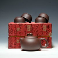 Wholesale Teapot Set YiXing Purple Sand Cabinet Style One Teapot With Cups Especially Good For Taste In Chinese Tea Lover