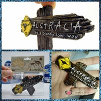 australia christmas decorations - pc Australia Road Sign Fridge Magnets Figures animal toys car home office decoration kids christmas gifts