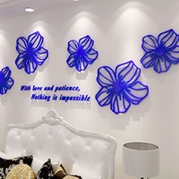 beautiful bedroom colors - Beautiful Flowers Design D Acrylic Wall Stickers Room Cafe Shop Wall Decorations DIY Sticker Many Colors