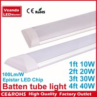 Wholesale LED surface mounted panel Batten tube light ft ft ft ft W W W W LED Tri proof lights tube dual Rows AC185 V