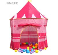 Cheap 30pcs Children Beach Tent Prince and Princess Palace Castle Children Playing Indoor Outdoor Toy Tent Game House Free shipping