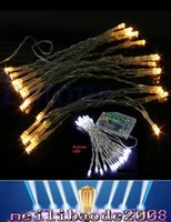 Wholesale Sparkling Lights Battery Operated White - 2016 New 3M 30 LEDs Battery Operated Mini LED Copper Wire String Fairy Sparkle Lights Party Xmas MYY169