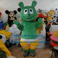gummy bear - Cute Green Gummy Bear Gummibar Mascot Costume Cartoon Character Mascotte Adult Big Eyes Small Nose Short Legs NO Free Ship