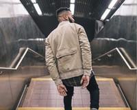 baseball outerwear - Frayed FEAR OF GOD BOMBER Jackets kanye west Hiphop punk boy Rock outerwear OVERSIZE Unisex Short baseball coats Hoodies
