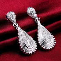 asian dating - Brand new sterling silver Pipa earrings white DFMSE557 women s silver Dangle Chandelier earrings factory direct sale can mix