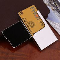 Wholesale EDC Stainless Steel Pocket Business Name Credit ID Card Case Box Mens Wallet Men s Accessories Hot Selling