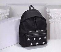 Wholesale Luxury School Bags - HOT SALE Famous Designer brand Classic Stars Backpack women men unisex High quality luxury Nylon + leather travel bag Fashion School bag