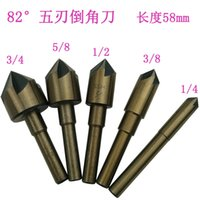 Wholesale chamfer blade knife Huo five drill countersunk drill taper chamfer Inch high speed steel PC