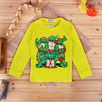 Wholesale 2016 hottest kids style Anime t shirt kids boy clothes around the Teenage Mutant Ninja turtle long sleeve t shirt a