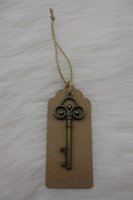 antique christmas cards - 100pcs Wedding Favor Wedding Tags Antique bronze Skeleton Key Beer Bottle Opener with Escort Tags Place Card Thanks Card