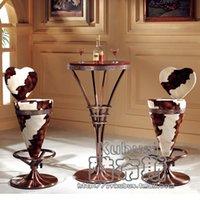 bar chair model - European classical bar chair Bar lift stool model room villa furniture