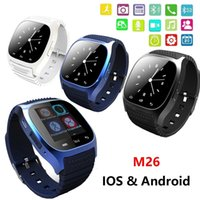 Wholesale New Smart watch M26 Touch Screen Smartwatch Life WaterProof Hot Bluetooth Watch Sync Phone Calls for Android IOS Anti lost