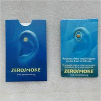 Wholesale New Quit Smoking Zerosmoke Healthy Care Auricular Zerosmoke Magnets zero Smoking Auricular Therapy Magnets No Chemicals