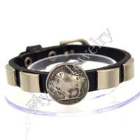 bangle bracelet watches - Leather Bracelets Bangle Jewelry Mens Bracelets Square Accessories Watch Band Design Adjustable Punk Rock Decorations Amulet Jewelry