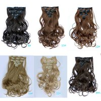 Wholesale g colors Curly Hair Extension Hairpiece Hair Weave Synthetic Clip In Hair Extensions
