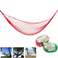 Wholesale High Quality Nylon Rope Mesh Hammock Colors Portable Outdoor Garden Hammock Hang BED Travel Camping Swing Fauteuil Suspendu