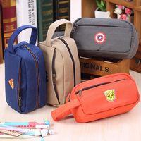 Wholesale High Capacity Kawaii Cartoon Student s Pen Pencil Case Cosmetic Makeup Bag Storage Zipper Pouch Novelty Item School Material