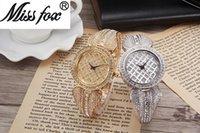 alloy steel grades - 2016 New Miss fox Original Design Ideas Female Moden High grade Quartz Waterproof Watch With Diamond Shining