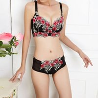 Cheap Wholesale-Lace Lingerie Women Bra Set Push Up Triumph Bra Sets Brand Cute lingerie Bra Brief Sets