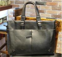 Wholesale Fashion Brand Office Bag For Men Leather Brief Design Business Bag Men S Briefcase Vintage Tote One Shoulder Mens Bag