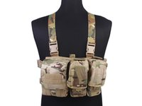 Wholesale Light Weight Simple Tactical Chest Rigs EMERSON Hunting Vest Airsoft Painball Army Combat Gear MC Multicam