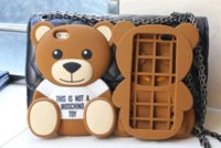 bear resistant bags - Phone case For iPhone Case inch D Cute Cartoon Brown Bear Soft TPU Silicone Rubber Case Cell Phone Bags Cover