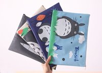 Wholesale PC cm Cute My Neighbor Totoro Canvas A4 File Folder Document Filing Bag Zipper Stationery Bag