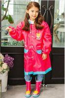 Wholesale 2016 New Kids Rain Coat children Raincoat Rainwear Rainsuit Kids Waterproof Superhero Raincoat