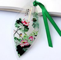 Wholesale 20pcs Natural Dried Leaf Veins Lotus Brid Bookmark Book card For Wedding Baby Shower Party Birthday Favor Gift Souvenirs Souvenir
