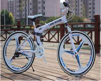 Wholesale Colorful folding bicycle inch folding bike disc brakes and speed mountain bike disc brakes MTB aluminum alloy frame