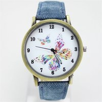 arabic fabric patterns - wrist watch Stylish Simplicity In The Hot Metal Quartz Watch Dial With Arabic Numerals Butterfly Pattern Strap Made Of Cloth Orologio Donna