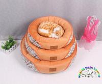 best pet beds - Pet products orange dog beds for sale size S M L round designer pet beds best cat beds