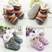 baby crib fabric - Newborn Baby Girls Soft Crib Shoes Toddler Infant Warm Fleece First Walker baby girls shoes Winter
