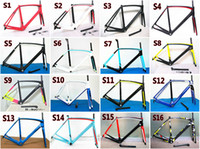 Wholesale Top sale Carbon road Bike frame Super LIGHT Black red silver glossy full Carbon Road Bike Frame fork headset seatpost clamp