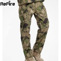 Wholesale Soft Shell Waterproof Outdoor Hunting Camouflage Pants Men Shark Skin Windproof Fleece Hiking Pants Tactical Army Bottom Clothes